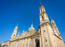 El Pilar basilica wide angle Royalty Free Stock Images