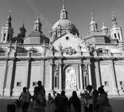 El Pilar Basilica, Zaragoza, Spanien Royaltyfria Bilder