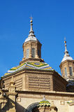 El Pilar Basilica, Zaragoza, Spanien Royaltyfri Bild