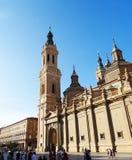 El Pilar Basilica, Zaragoza, Spanien Fotografering för Bildbyråer