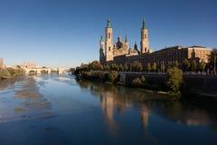 El Pilar en Zaragoza Foto de archivo