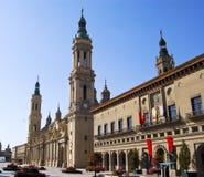 El Pilar. Zaragoza, Испания Стоковое фото RF