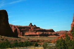 El pináculo de la roca arquea el parque nacional Imágenes de archivo libres de regalías