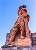 El Pipila Statue Guanajuato Mexico. El Pipila is Juan Jose Martinez, a miner, who led the assault against the Fort/Granary in Guanajuato in the 1810 Mexican royalty free stock image
