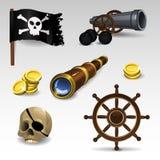 El pirata fijó 2 Imagenes de archivo