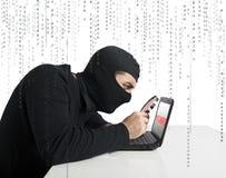 Pirata informático y contraseña Fotos de archivo libres de regalías