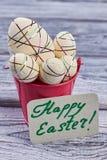El plástico de la espuma adornó los huevos Imágenes de archivo libres de regalías