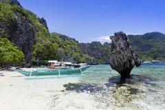 El plaża Nido, Filipiny Obraz Royalty Free