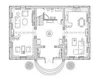 El plan de piso de la casa Fotografía de archivo libre de regalías