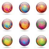 El planeta brillante tiene gusto de esferas Fotografía de archivo