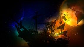 el planeta de muerte ilustración del vector