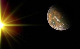 El planeta extranjero para arriba-se cierra Imagen de archivo libre de regalías