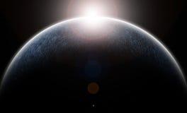 El planeta helado ilustración del vector