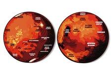 El planeta Marte Fotografía de archivo libre de regalías