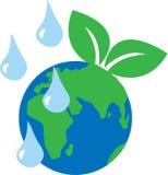 El planeta verde rodea entorno Foto de archivo