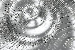 El platino del oro de plata o blanco bloquea los cubos sobre fondo de la onda Modelado del ejemplo 3d bitcoin rico de la explotac Stock de ilustración