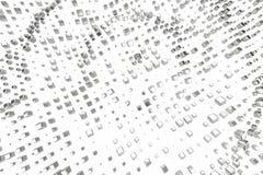 El platino del oro de plata o blanco bloquea los cubos sobre el fondo blanco Modelado del ejemplo 3d bitcoin rico de la explotaci Ilustración del Vector