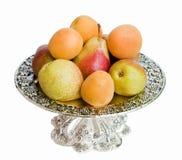 El plato con la fruta Imagen de archivo libre de regalías