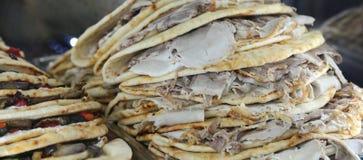 El plato italiano del flatbread se preparó típicamente en la región de Romagna Fotografía de archivo libre de regalías