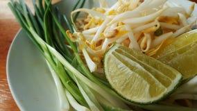 El plato vegetal para la comida tailandesa picante del padthai Foto de archivo libre de regalías