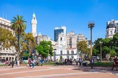 El Plaza de Mayo Imágenes de archivo libres de regalías
