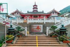 El Po Fook Memorial Hall en Hong Kong es cementerio en Shatin Opinión de la entrada foto de archivo libre de regalías