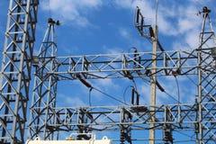 El poder de alto voltaje Foto de archivo