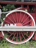 El poder de la locomotora de vapor rueda el detalle, Resita, Rumania Imágenes de archivo libres de regalías