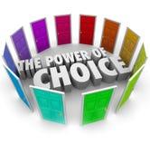 El poder de la opción oportunidad de muchas puertas decide a la mejor opción Fotografía de archivo