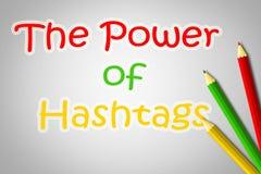 El poder del concepto de Hashtags libre illustration