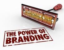 El poder del hierro de marcado en caliente redacta confianza de la identidad del márketing Imagen de archivo libre de regalías