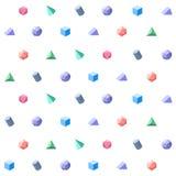 El polígono 3d se opone el modelo geométrico inconsútil Imágenes de archivo libres de regalías