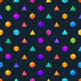 El polígono 3d se opone el modelo geométrico inconsútil Foto de archivo
