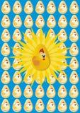 El pollo de oro Imágenes de archivo libres de regalías