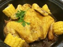 El pollo delicioso de la comida china parece sabroso fotografía de archivo libre de regalías