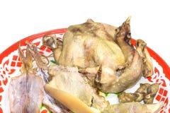El pollo hervido para celebra festival chino del Año Nuevo Imagenes de archivo