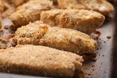 El pollo ofrece el horno cocido Fotografía de archivo