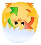 El polluelo con restaura flechas Imagen de archivo libre de regalías