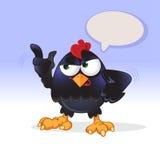 El polluelo negro está hablando en alta voz stock de ilustración