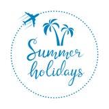 El poner letras de las vacaciones de verano Imagen de archivo libre de regalías