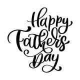 El poner letras dibujado mano feliz de la frase del día de padres engendra citas Diseño de la impresión de la camiseta o de la po ilustración del vector