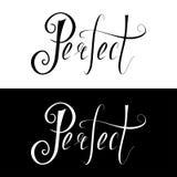 El poner letras dibujado mano perfecto Foto de archivo libre de regalías