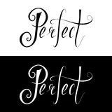 El poner letras dibujado mano perfecto Fotos de archivo