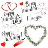El poner letras para el Día-sistema de la tarjeta del día de San Valentín imagen de archivo libre de regalías