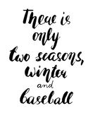El poner letras sobre béisbol Fotos de archivo