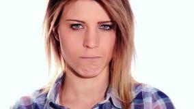 El poner mala cara del adolescente almacen de metraje de vídeo