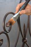 El ponerse verde con red de la forja del cepillo Foto de archivo