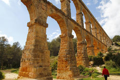 El Pont del Diable, a roman aqueduct Stock Photos