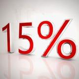 el 15 por ciento Foto de archivo libre de regalías