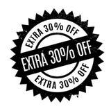 El 30 por ciento adicional del sello de goma Imágenes de archivo libres de regalías